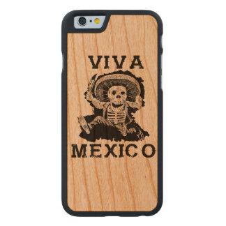 Coque En Cerisier iPhone 6 Case Jour du Mexique de vivats du crâne mort