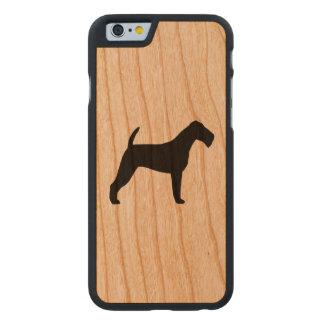 Coque En Cerisier iPhone 6 Case Silhouette de Terrier irlandais