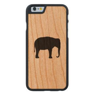 Coque En Cerisier iPhone 6 Case Silhouette d'éléphant asiatique