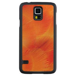 Coque En Érable Galaxy S5 Case Abrégé sur orange plume d'ara de Camelot