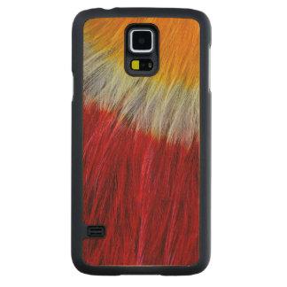 Coque En Érable Galaxy S5 Case Abrégé sur rouge plume de toucan de Breasted