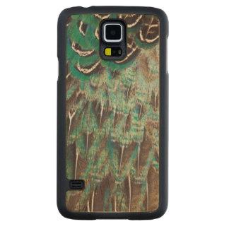 Coque En Érable Galaxy S5 Case Le faisan de Melanistic fait varier le pas du plan