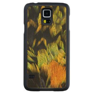 Coque En Érable Galaxy S5 Case Plumes de Tanager colorées par néon