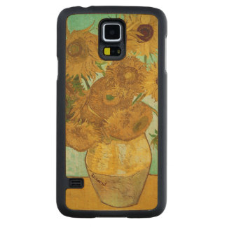 Coque En Érable Galaxy S5 Case Tournesols de Vincent van Gogh |, 1888
