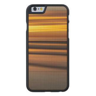 Coque En Érable iPhone 6 Case Paysage marin abstrait au coucher du soleil, CA