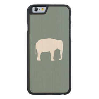 Coque En Érable iPhone 6 Case Silhouette d'éléphant asiatique
