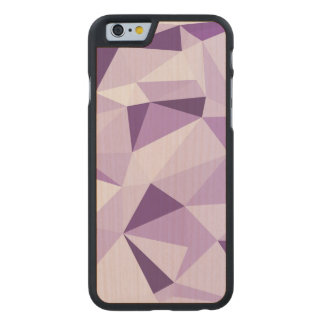 Coque En Érable iPhone 6 Case Triangles abstraites géométriques pourpres