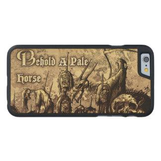 Coque En Érable iPhone 6 Case Voyez une caisse en bois de téléphone de horse_