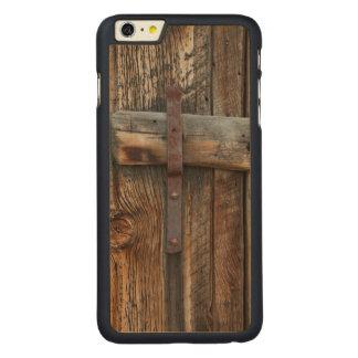Coque En Érable iPhone 6 Plus Plan rapproché en bois de porte, la Californie