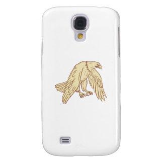 Coque Galaxy S4 Ailes de vol d'Eagle chauve baissant