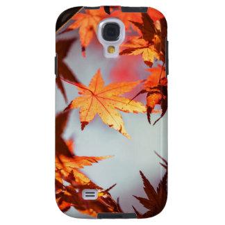 Coque Galaxy S4 Arbre d'érable rouge de feuille d'automne