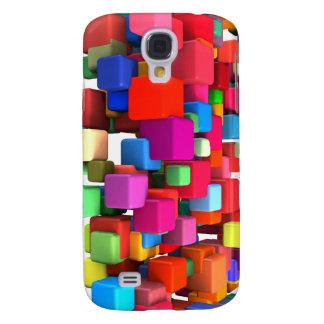 Coque Galaxy S4 Arrière - plan coloré abstrait en rouge, bleu,
