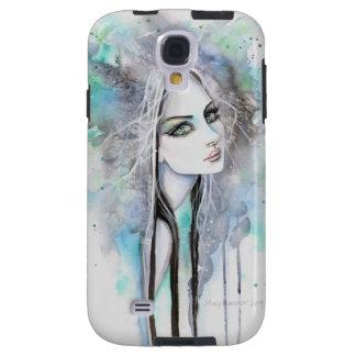 Coque Galaxy S4 Art gothique abstrait d'imaginaire de fille de