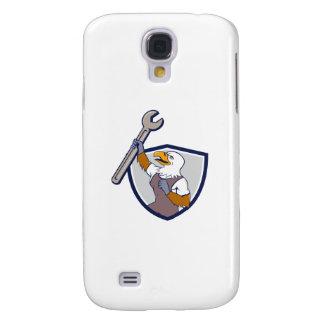 Coque Galaxy S4 Bande dessinée de crête de clé d'Eagle chauve de