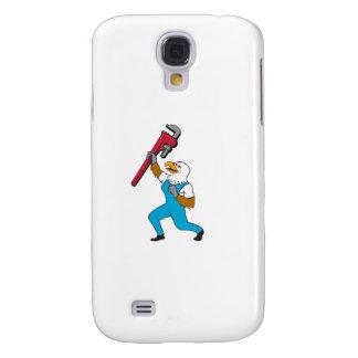 Coque Galaxy S4 Bande dessinée debout de clé à tube d'Eagle de