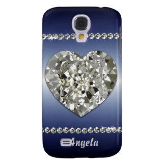 Coque Galaxy S4 Beau coeur de caisse des diamants iPhone3