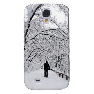 Coque Galaxy S4 Blanc dehors d'hiver
