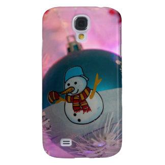 Coque Galaxy S4 Bonhomme de neige - boules de Noël - Joyeux Noël