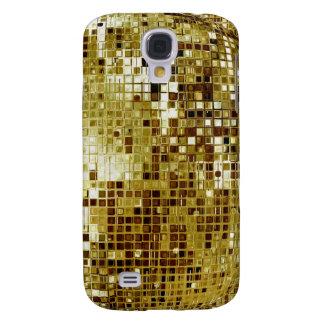 Coque Galaxy S4 Cas de l'iPhone 3 de regard de paillettes d'or