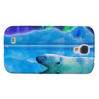 Coque Galaxy S4 Cas de téléphone d'art d'imaginaire d'ours blanc
