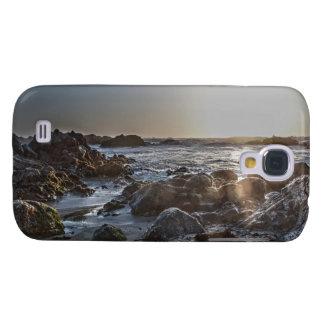 Coque Galaxy S4 Cas dur vif du coucher du soleil 1 d'océan