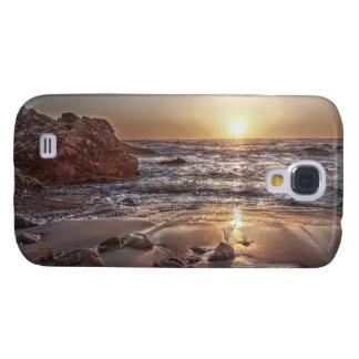 Coque Galaxy S4 Cas dur vif du coucher du soleil 2 d'océan