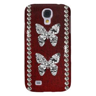Coque Galaxy S4 Cas vintage de l'iPhone 3 de paires de papillon de