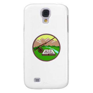 Coque Galaxy S4 Cercle de montagnes de Rod de boîte de mouche