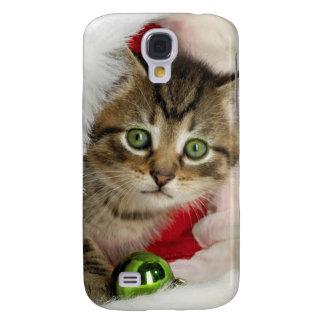 Coque Galaxy S4 Chat de Noël - chat de chaton - chats mignons