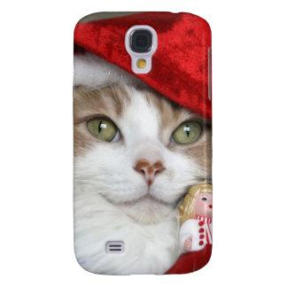 Coque Galaxy S4 Chat de Père Noël - chat de Noël - chatons mignons