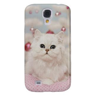 Coque Galaxy S4 Chat persan se reposant sur le coussin rose
