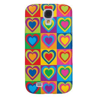 Coque Galaxy S4 Coeurs d'art de bruit