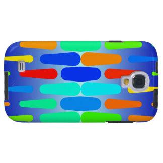 Coque Galaxy S4 Conception colorée d'abrégé sur formes
