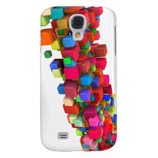Coque Galaxy S4 Conception d'arrière - plan avec les blocs colorés