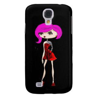 Coque Galaxy S4 Conception fraîche de poupée de fille de tatouage