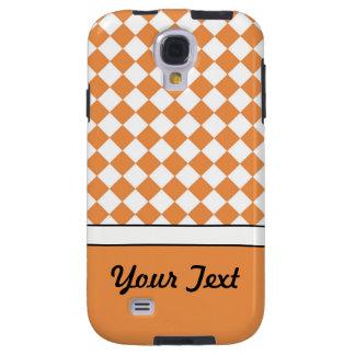 Coque Galaxy S4 Contrôle blanc orange de diamant de pêche nommée