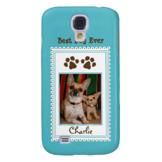 Coque Galaxy S4 Coutume 3G (aqua) de la photo de votre animal