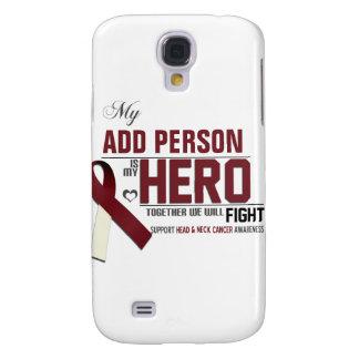 Coque Galaxy S4 Customisez MON HÉROS :  Cancer de tête et de cou