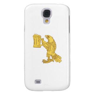 Coque Galaxy S4 Dessin américain de Stein de bière d'Eagle chauve
