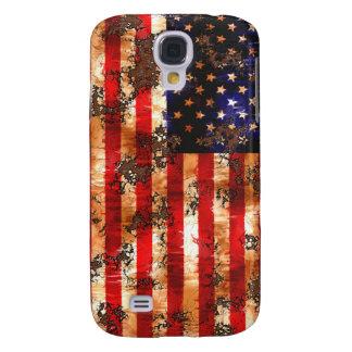 Coque Galaxy S4 Drapeau américain rouillé patiné