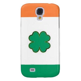 Coque Galaxy S4 Drapeau de shamrock de l'Irlande