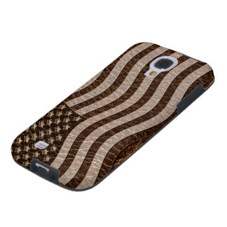 Coque Galaxy S4 Drapeau simili cuir des Etats-Unis