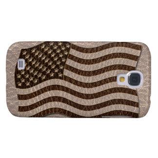 Coque Galaxy S4 Drapeau simili cuir des Etats-Unis mou