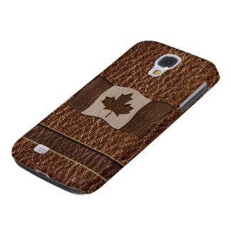 Coque Galaxy S4 Drapeau simili cuir du Canada