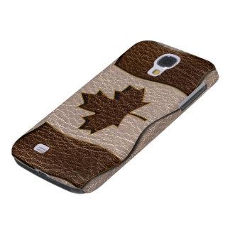 Coque Galaxy S4 Drapeau simili cuir du Canada mou