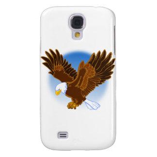 Coque Galaxy S4 Eagle chauve américain l'écartant est des ailes