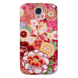 Coque Galaxy S4 Éclat floral rouge de Falln