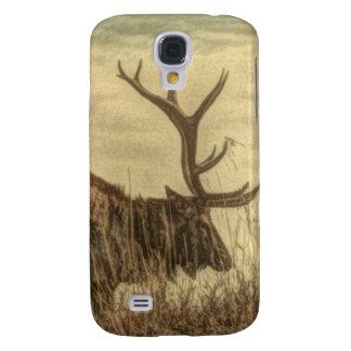 Coque Galaxy S4 élans rustiques de Taureau de faune de région