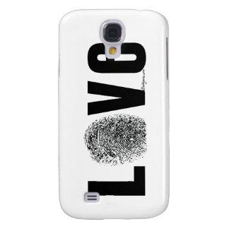Coque Galaxy S4 Empreinte digitale d'amour noire et blanche