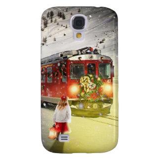 Coque Galaxy S4 Express de Pôle Nord - train de Noël - train de